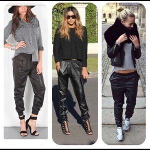 BCBG Maxazria Sugi Faux Leather Jogger Pants